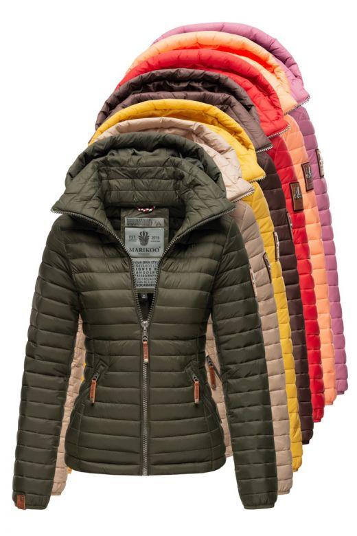 Dame dyne jakke med hætte Marikoo Løve Baby - Flere Farver.