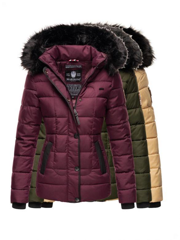 Dame vinterjakke med sort pels Navahoo Unique - Flere Farver