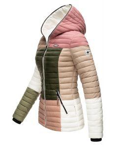 Dame dyne jakke med hætte Multi Natural