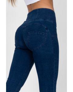 Leggings Elite i Blå jeans stof med høj talje