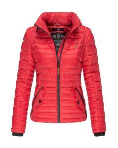 Flot kort jakke Riva - Rød