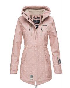 Flot Softshell outdoor jakke i Rosa Logo