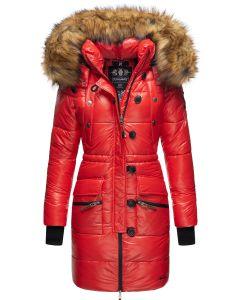 Dame Vinterjakke med Pels - Zucker Rød