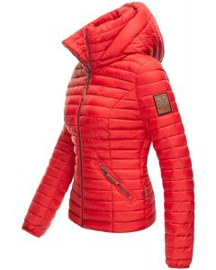 Dame jakke med hætte Marikoo Baby Rød