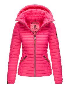 Dame jakke med hætte Marikoo Baby Pink