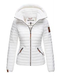 Dame jakke med hætte Marikoo Baby Hvid