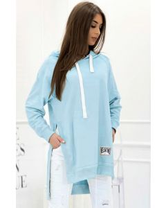 Hoodie Velsatino Swearshirt i Blå