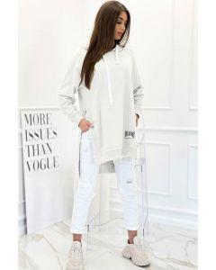 Hoodie Velsatino Swearshirt i Hvid