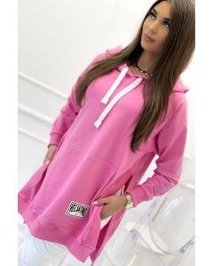 Hoodie Velsatino Swearshirt i Pink