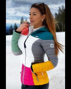 Dame dyne jakke med hætte Multi - Flere Farver