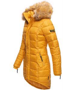 Dame Vinter dun jakke Papaya - Gul