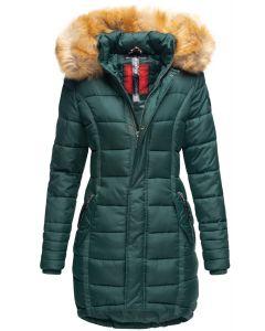 Dame Vinter dun jakke Papaya - Forrest Green