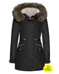 Dame vinterjakke med pels - Bergen
