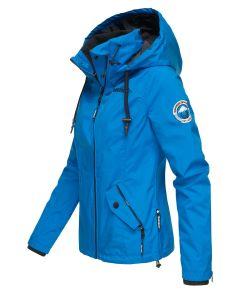 Overgangsjakke med hætte Maliaa - Blå