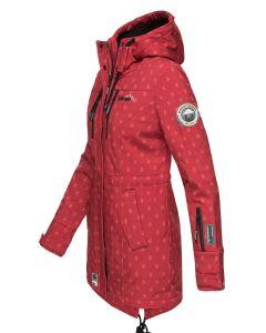 Flot Softshell outdoor jakke i Rød Dot