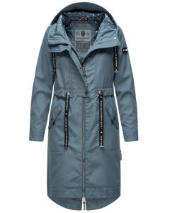 Dame Overgangs jakke i lang model Navahoo Josinaa i Blå
