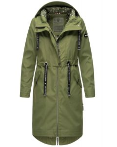Dame Overgangs jakke i lang model Navahoo Josinaa i Olive