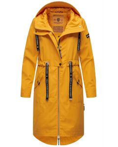 Dame Overgangs jakke i lang model Navahoo Josinaa i Gul
