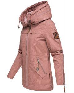 Dame Overgangsjakke i bomuld Wekoo - Rosa Dot
