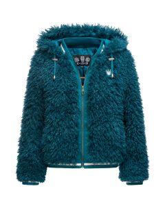 Teddy bear jakke i Blå