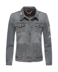 Flot Jeans jakke jakke i Grå
