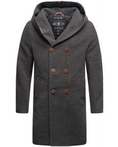 Herre vinter frakke Irukoo - Mørk Grå