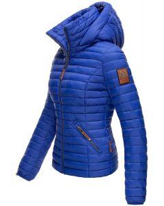 Dame jakke med hætte Baby Blå