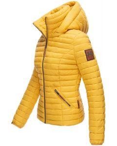 Dame jakke med hætte Baby Gul