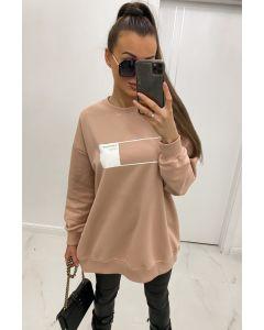 Lang Swearshirt i rosa med print.