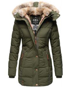 Dame vinter jakke model faurit - Oliven Grøn