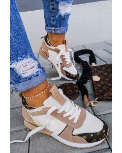 Sneakers LW Lugano i Beige/Hvid