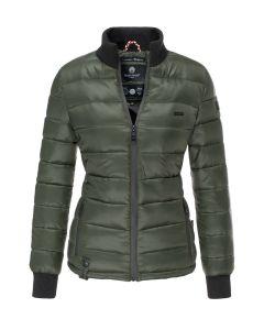 Flot kort dyne jakke Fiona - Grøn