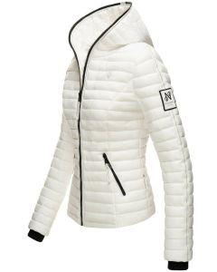 Dame dyne jakke med hætte Kimuk Prinsess i Hvid