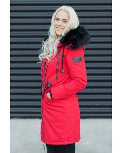 Lang Dame Frakke Leona - Rød