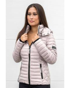 Sara let dun jakke i Lys Grå