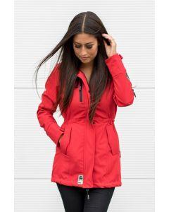 Flot Softshell outdoor jakke i Rød