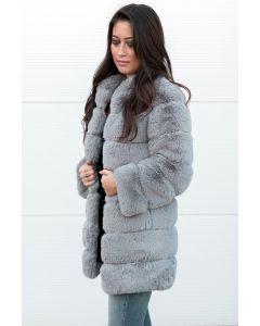 Jenny Faux fur jakke grå