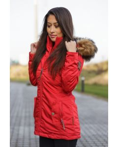 Dame outdoor Vinterjakke Sanko - Rød