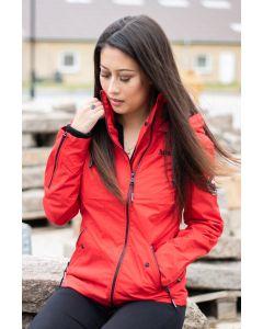 Overgangsjakke med hætte Maliaa - Rød