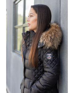 Dame dun vinterjakke - Verona med pels