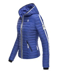 Dame dyne jakke med hætte Kimuk Prinsess i Blå