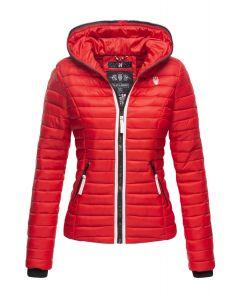 Dame dyne jakke med hætte Kimuk Prinsess i Rød