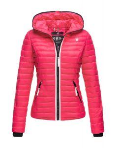 Dame dyne jakke med hætte Kimuk Prinsess i Pink