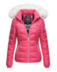 Dame vinterjakke med pels Kingaas - Pink