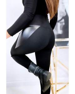 Leggings i Sort / Blank med høj talje
