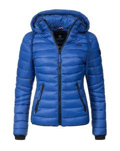 Dame dun jakke med hætte Lulana Blue Jean