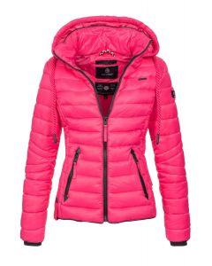 Dame dun jakke med hætte Lulana Pink