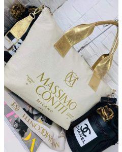 Massimo Contii Beige Håndtaske