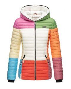 Dame dyne jakke med hætte Multi Mix