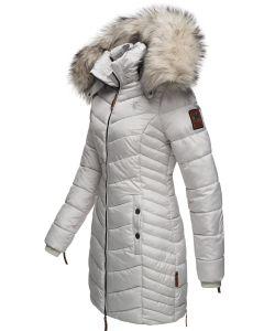 Dame Vinter dyne jakke med pels Nimala - Grå